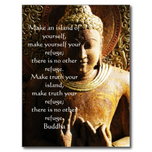 Zen Buddhist Quote, Saying and Words of Wisdom Postcard