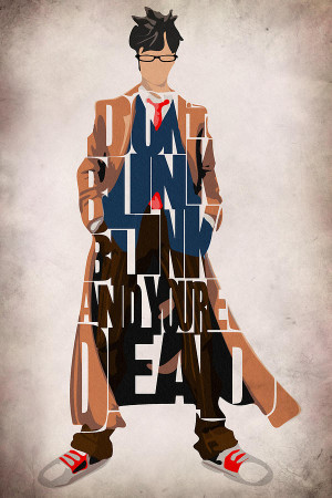 Doctor Who Inspired Tenth Doctors Typographic Artwork Painting