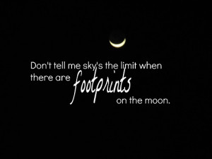 Black And White Moon Quote Sky Star Image Favim