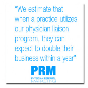 PRM's physician referral marketing strategy answers the questions: