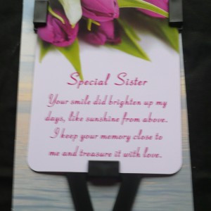 Home > Family > Sister > Memorial Verses for Sister | Waterproof Grave ...