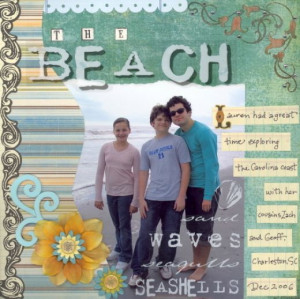 Free Beach Vacation Scrapbook Layout Ideas