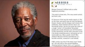 Morgan Freeman Batman Quotes Morgan freeman sandy hook post