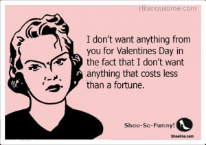Valentines day quote with sad woman