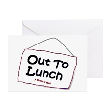 Out to Lunch Greeting Cards (Pk of 10) for