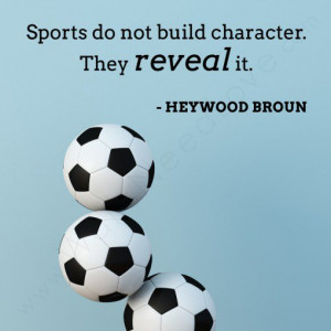 Sports Wall Quote Decal with soccer balls