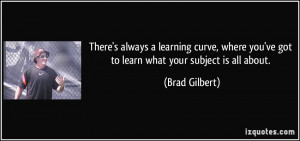 Learning Curve quote