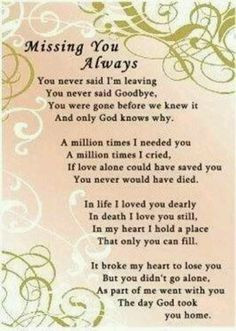 Missing you....for grandma More