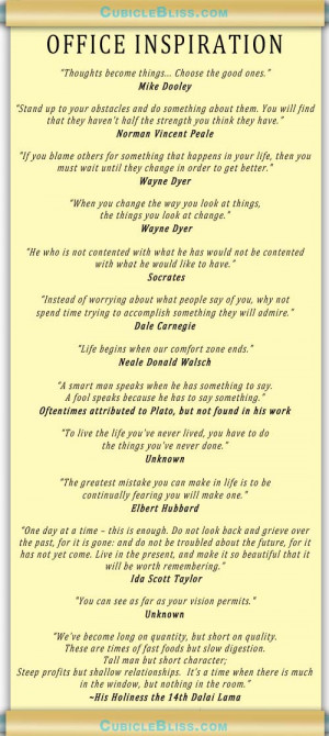 hope that these quotes add some inspiration to your working life or ...