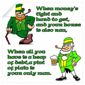 Irish Sayings, Toasts and Ble Wall Decal
