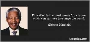 Mandela quote on education