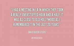 had a meeting in LA in which they took a really overstuffed hour and ...
