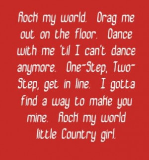 rock music lyric quotes ... Rock My World -