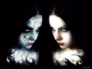 Art, Good Vs Evil Gothic Girl Wallpaper: Wallpaper HD Evil: Perfect ...