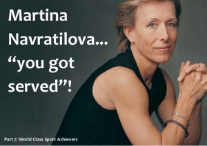 Martina Navratilova Motivational message and Quotes