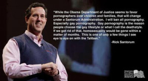 Rick Santorum on Gay Pornography?