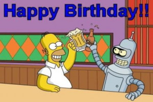 happy birthday homer simpson in cannes