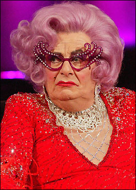 Dame Edna ... behind the glasses
