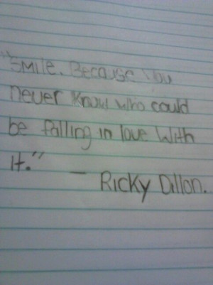 Ricky dillon quote.