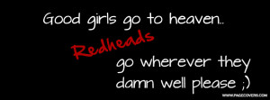 Facebook Quotes About Redheads