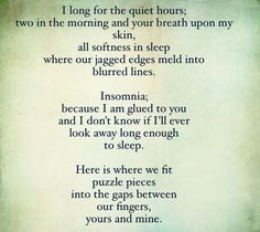 Insomnia Quotes Insomnia. pinned by pinner