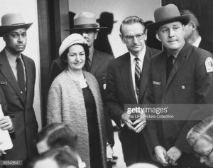 News Photo Mrs Lyndon B Johnson with Laurance Rockefeller