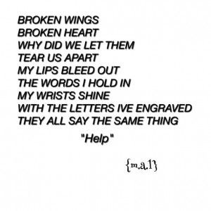 Depressed Poems About Cutting My poem