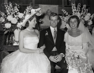 Robert Francis Kennedy and his bride, the former Ethel Skakel, and the ...