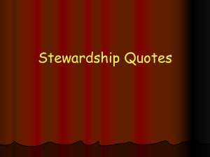 Stewardship Quotes (PowerPoint) by mikeholy