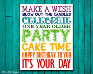 ... Party Decor. Happy Birthday to You! Kids Party Decor. Birthday Sign