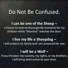 Sheep..Sheepdog..wolf-- I'm all of these More