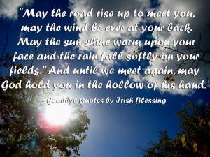 Goodbye Quotes Irish Blessings ~ Irish Sayings on Pinterest