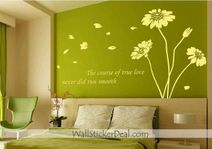 The Course of True Love Never Did Run Smooth Sunflower Wall Sticker