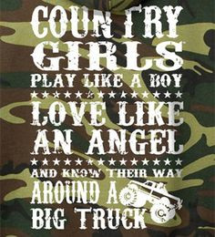 camo redneck girl quotes Back View - Country Gir...