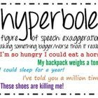 Hyperbole Board by Adarah and Jack - Ms Waters - Period 2