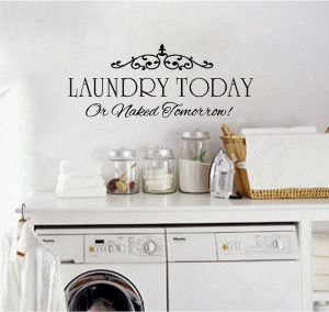 wall quotes for the laundry room laundry wall quotes add charm and ...