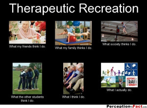Therapeutic Recreation What my friends think I do. What my family ...