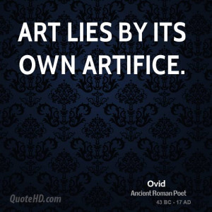 Ovid Art Quotes
