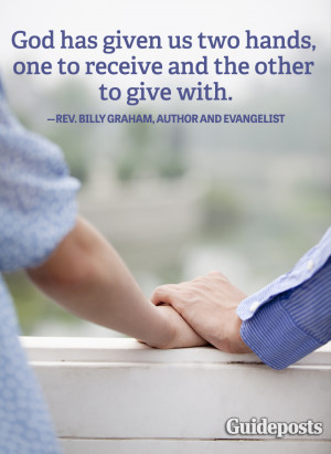 helping others quote Billy Graham giving