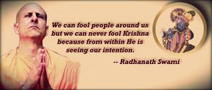 Radhanath Swami on Intention