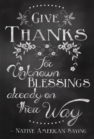 Give Thanks Quote Chalkboard Art Sign by JillianArtandDesigns