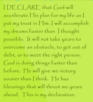 ... Day #10 I DECLARE: 31 Promises to Speak Over Your Life by Joel Osteen