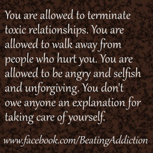 terminate toxic relationships!