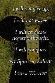 Spartan mindset. More