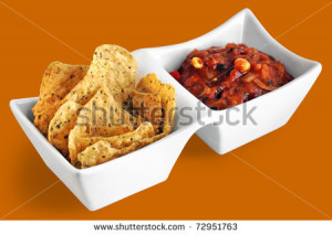 Chips Salsa Wallpaper Chips and salsa in white