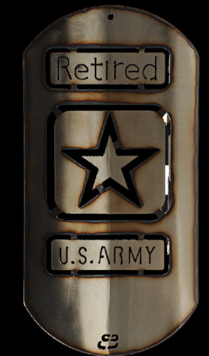 FRIDAY GIVEAWAY! US Army retired dog tag