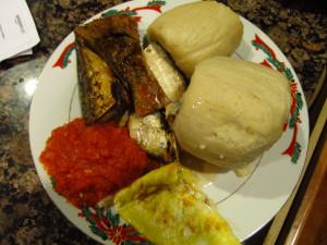 African Nigerian Food Fufu