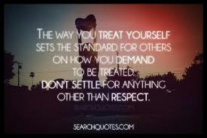Respect...Some people have no clue of what that is.