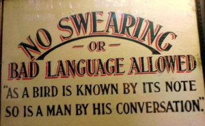 Profanity / Swearing.