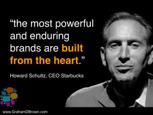 Howard Schultz Starbucks brand leadership